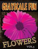 Grayscale Fun Flowers Vol.3