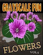 Grayscale Fun Flowers Vol.5