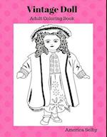 Vintage Doll Coloring Book