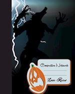 Primary Composition Book - Halloween Wolves Vampires