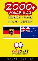 2000+ Deutsch - Maori Maori - Deutsch Vokabular