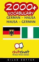 2000+ German - Hausa Hausa - German Vocabulary