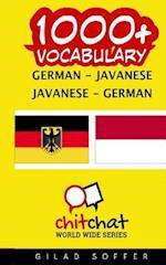 1000+ German - Javanese Javanese - German Vocabulary