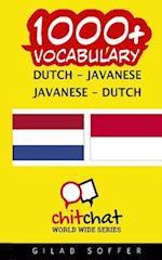1000+ Dutch - Javanese Javanese - Dutch Vocabulary
