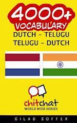 4000+ Dutch - Telugu Telugu - Dutch Vocabulary