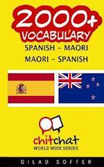 2000+ Spanish - Maori Maori - Spanish Vocabulary