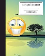Emoji Journal Unruled Composition Notebook to Write In, 8x10,120p, Workbook