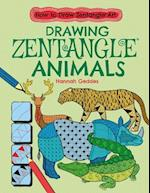Drawing Zentangle Animals (How to Draw Zentangle Art)
