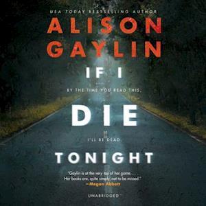 Lydbog, CD If I Die Tonight af Alison Gaylin