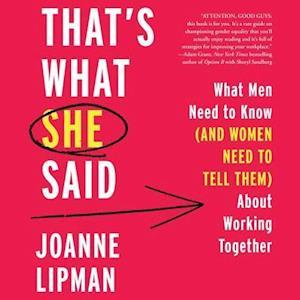 Lydbog, CD That's What She Said af Joanne Lipman