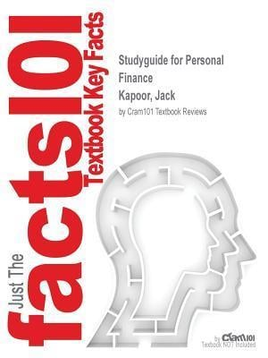 Bog, paperback Studyguide for Personal Finance by Kapoor, Jack, ISBN 9781259743306 af Cram101 Textbook Reviews