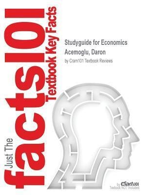 Bog, paperback Studyguide for Economics by Acemoglu, Daron, ISBN 9780133578119 af Cram101 Textbook Reviews