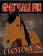 Grayscale Fun Horses