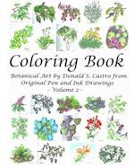 Botanical Art Coloring Book - Volume 2 af Donald S. Castro