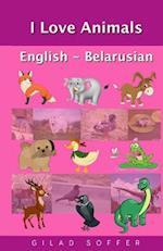 I Love Animals English - Belarusian
