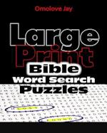 Large Print Bible Word Search Puzzles af Omolove Jay