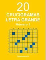 20 Crucigramas Letra Grande - N. 1