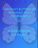 Abstract Butterflies Grayscale Adult Coloring Book