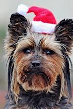 Dog Wearing a Santa Hat Journal
