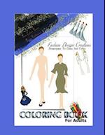 Fashion Design Adult Coloring Book