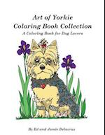 Art of Yorkie Coloring Book Collection