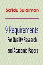 9 Requirements for Quality Research and Academic Papers