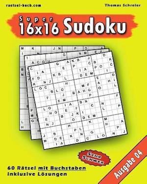 Bog, paperback 16x16 Super-Sudoku Mit Buchstaben 04 af Thomas Schreier