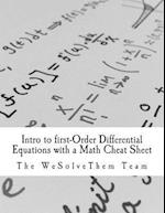 Intro to First-Order Differential Equations with a Math Cheat Sheet