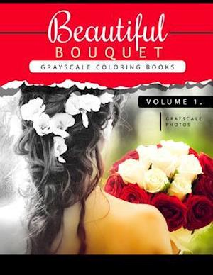 Beautiful Bouquet Grayscale Coloring Book Vol.1