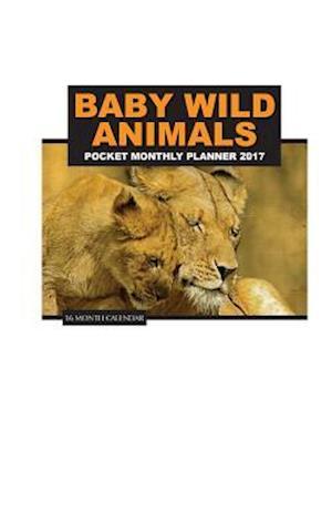 Baby Wild Animals Pocket Monthly Planner 2017