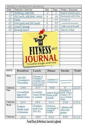 Bog, paperback Fitness Journal 2017 af Blank Books Journals