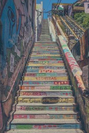Bog, paperback Outdoor Painted Staircase in Valparaiso Chile Journal af Cs Creations