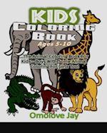 Kids Coloring Book Ages 5-10 af Omolove Jay