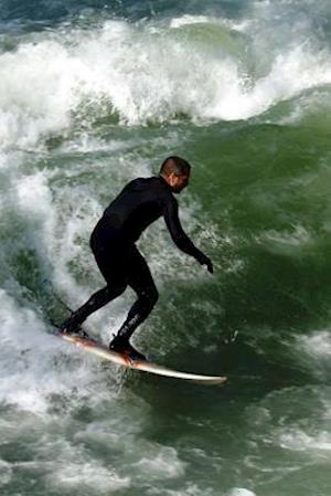 Surfer Catching a Wave Journal