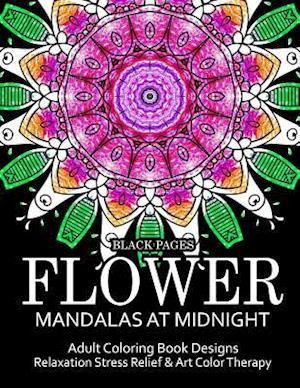 Bog, paperback Flower Mandalas at Midnight Vol.1 af Relax Team