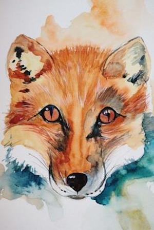 Bog, paperback Watercolor Painting of a Fox Journal af Cs Creations