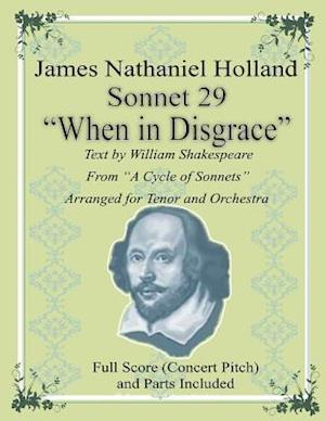 Bog, paperback Sonnet 29 When in Disgrace af James Nathaniel Holland