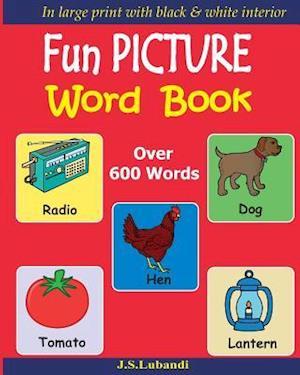 Bog, paperback Fun Picture Word Book (Black & White) af J. S. Lubandi
