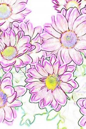 Illustration of Pretty Pink & Purple Flowers Journal