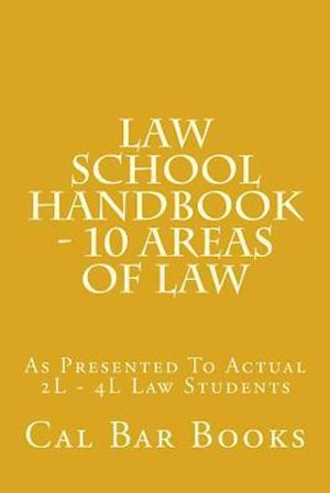 Bog, paperback Law School Handbook - 10 Areas of Law af Cal Bar Books