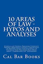 10 Areas of Law - Hypos and Analyses af Cal Bar Books