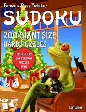 Bog, paperback Famous Frog Holiday Sudoku 200 Giant Size Hard Puzzles, the Biggest 9 X 9 One Per Page Puzzles Ever! af Dan Croker