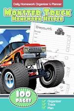 Daily Homework Organizer & Planner Monster Truck Homework Helper