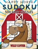 Happy Horse Sudoku 500 Easy Puzzles af Willy Canter