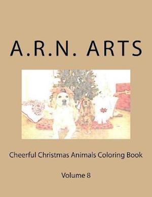 Bog, paperback Cheerful Christmas Animals Coloring Book af A. R. N. Arts