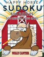 Happy Horse Sudoku 600 Puzzles, 300 Medium and 300 Hard