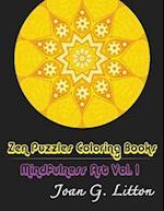 Zen Puzzles Coloring Books