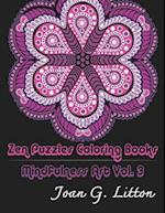 Zen Puzzles Coloring Books Mindfulness Vol. 3