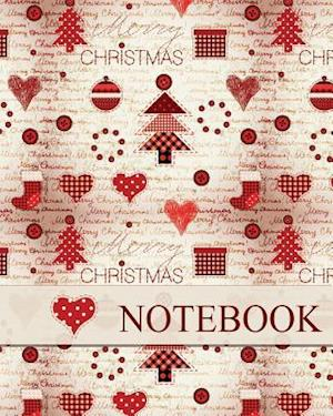 Bog, paperback Christmas Notebook, Holiday Notebook, Journal & Notes, Christmas Jotter Book (Happy Christmas Hearts) af N. Brown
