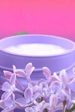 Body Creme and Lilac Flowers